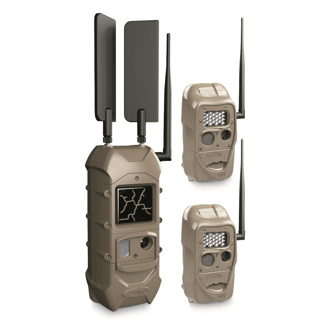 CuddeLink Long Range IR Trail/Game Camera Plus FREE Dual Cell Trail Camera, 2 Pack