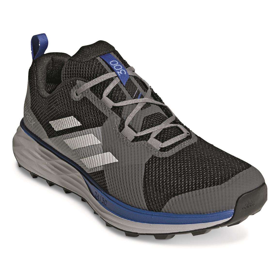 Adidas Men's Terrex Two Trail Running Shoes, Black/grey One/glory Blue