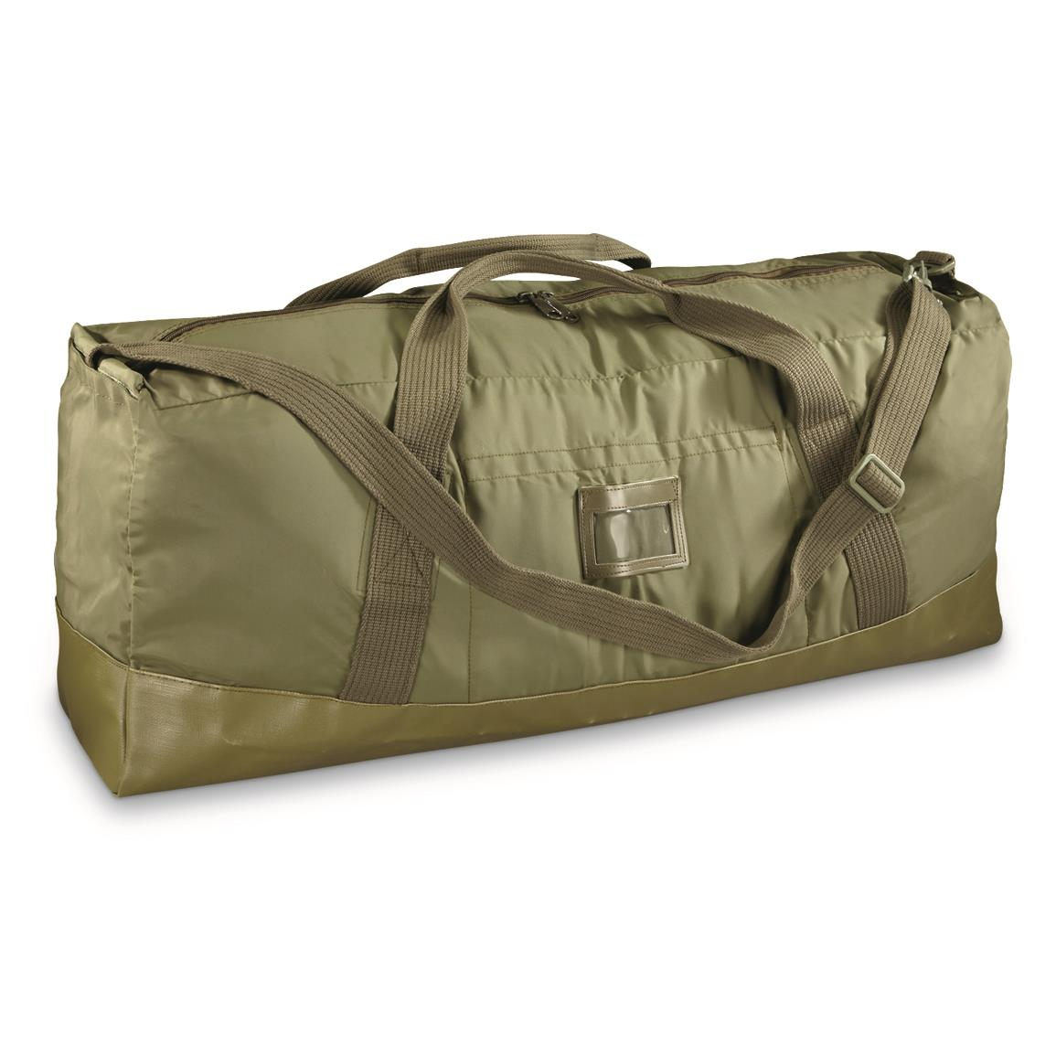 French Military Surplus Nylon Canvas Duffel Bag, New