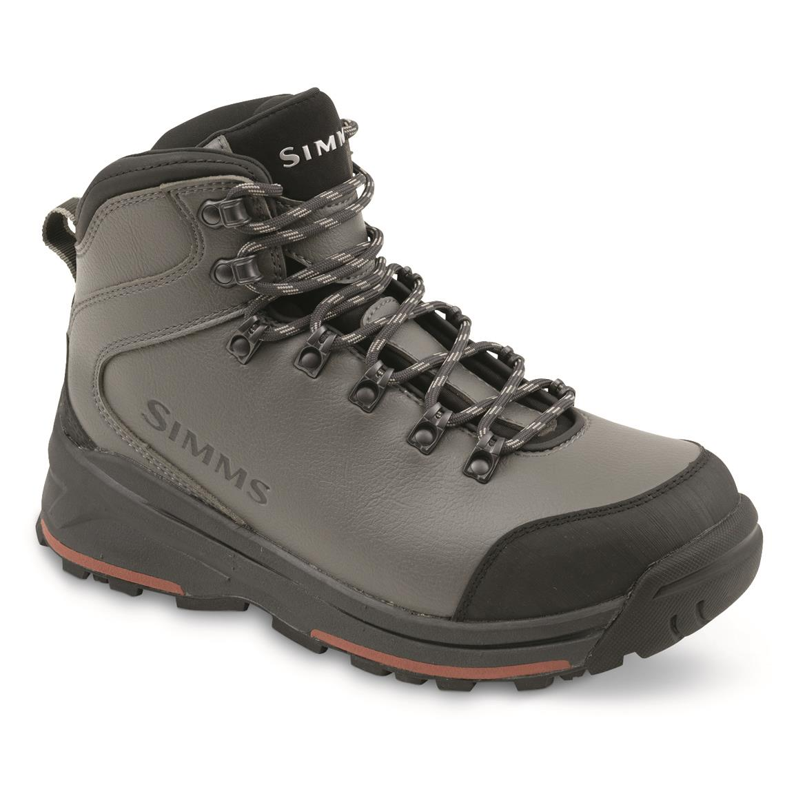 Simms Women's Freestone Wading Boots, Rubber Soles, Gunmetal