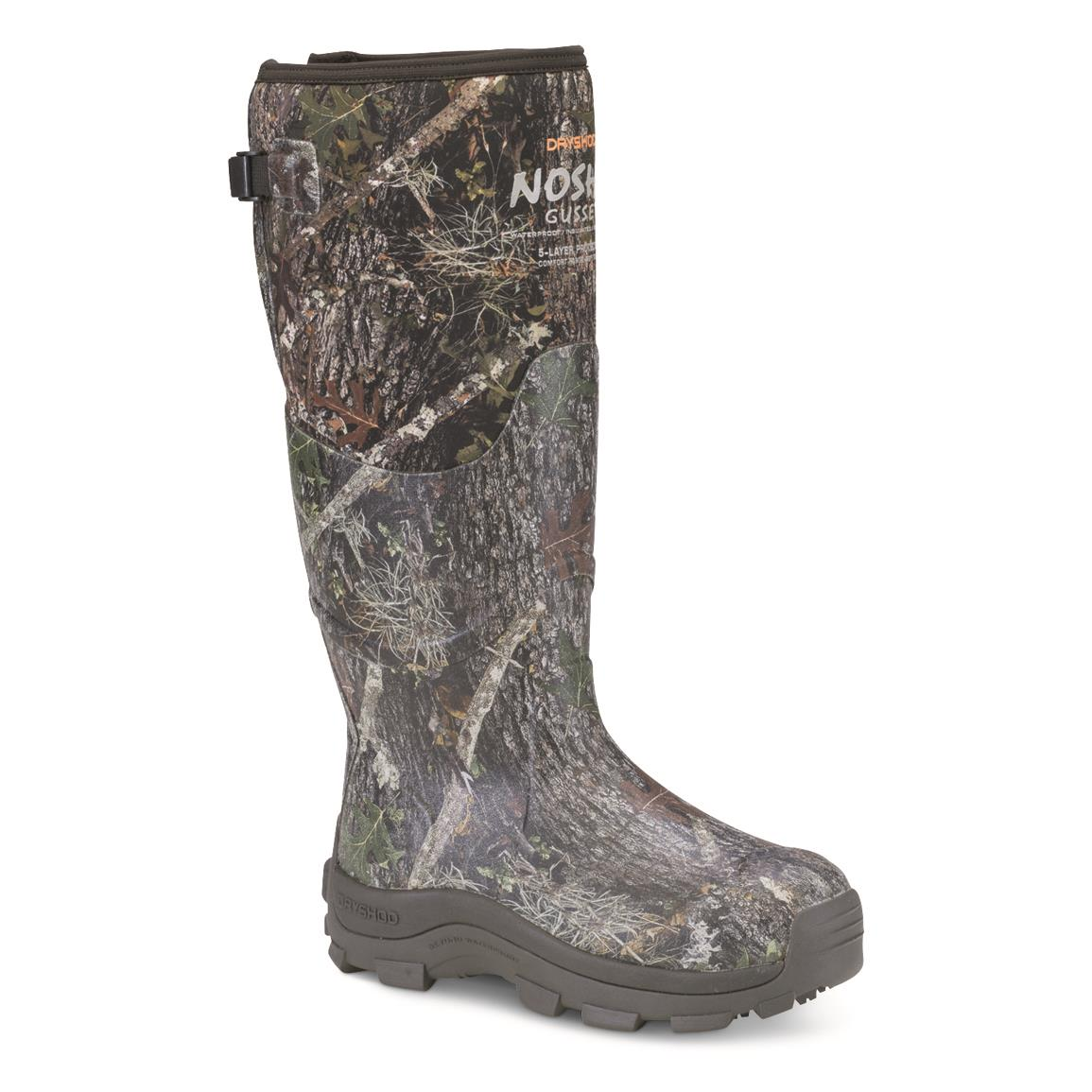 DryShod NOSHO Gusset Ultra Hunt Men's Neoprene Rubber Winter Hunting Boots, -25°F, Camo