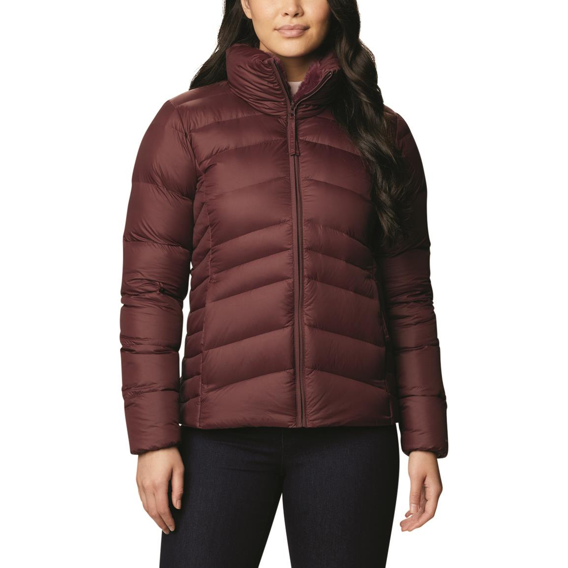 Columbia Womens Autumn Park Down Insulated Jacket, Malbec
