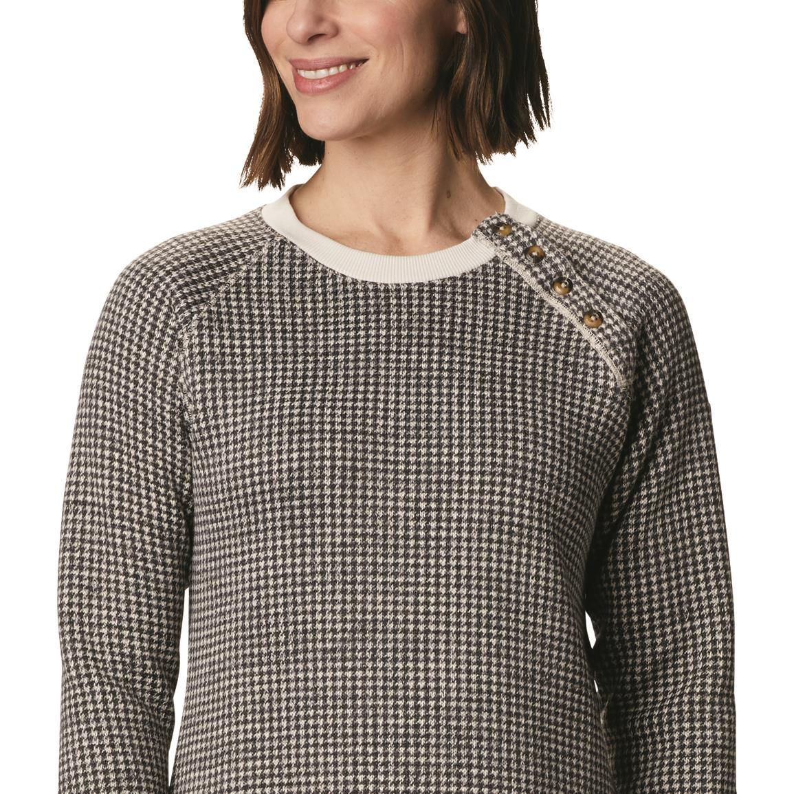 Columbia Women's Chillin Sweater, Chalk Houndstooth