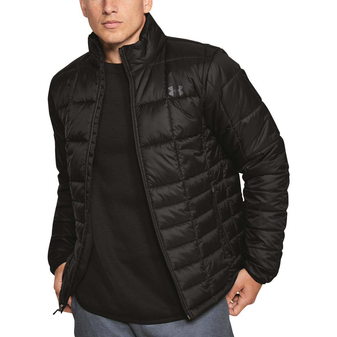 Under Armour Men's Armour Insulated Jacket, Black/pitch Gray
