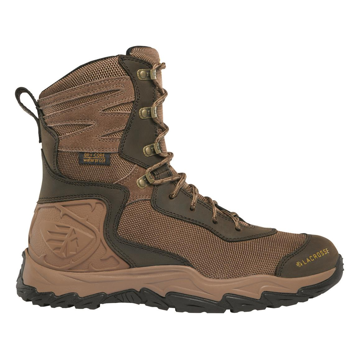 "LaCrosse Men's Windrose 8"" Waterproof Hunting Boots, Uninsulated, Brown"