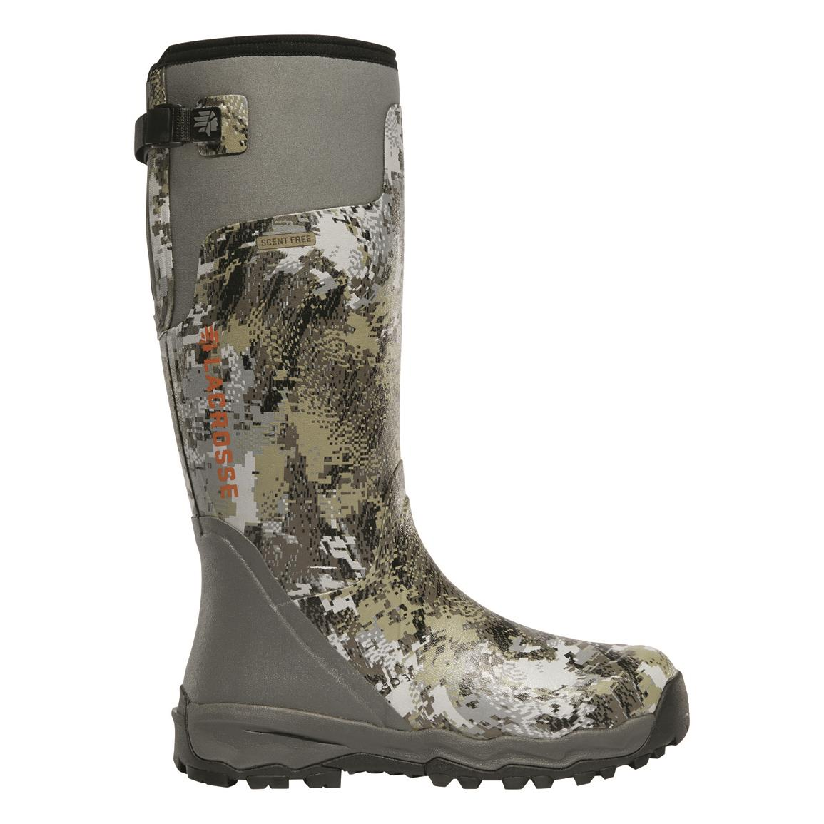 "LaCrosse Men's Alphaburly Pro 18"" Waterproof Rubber Hunting Boots, Camo, GORE™ OPTIFADE™ Elevated II"