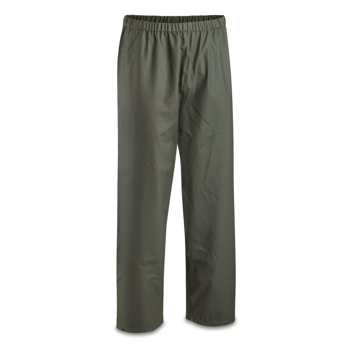 Belgian Military Surplus Waterproof Pants, New