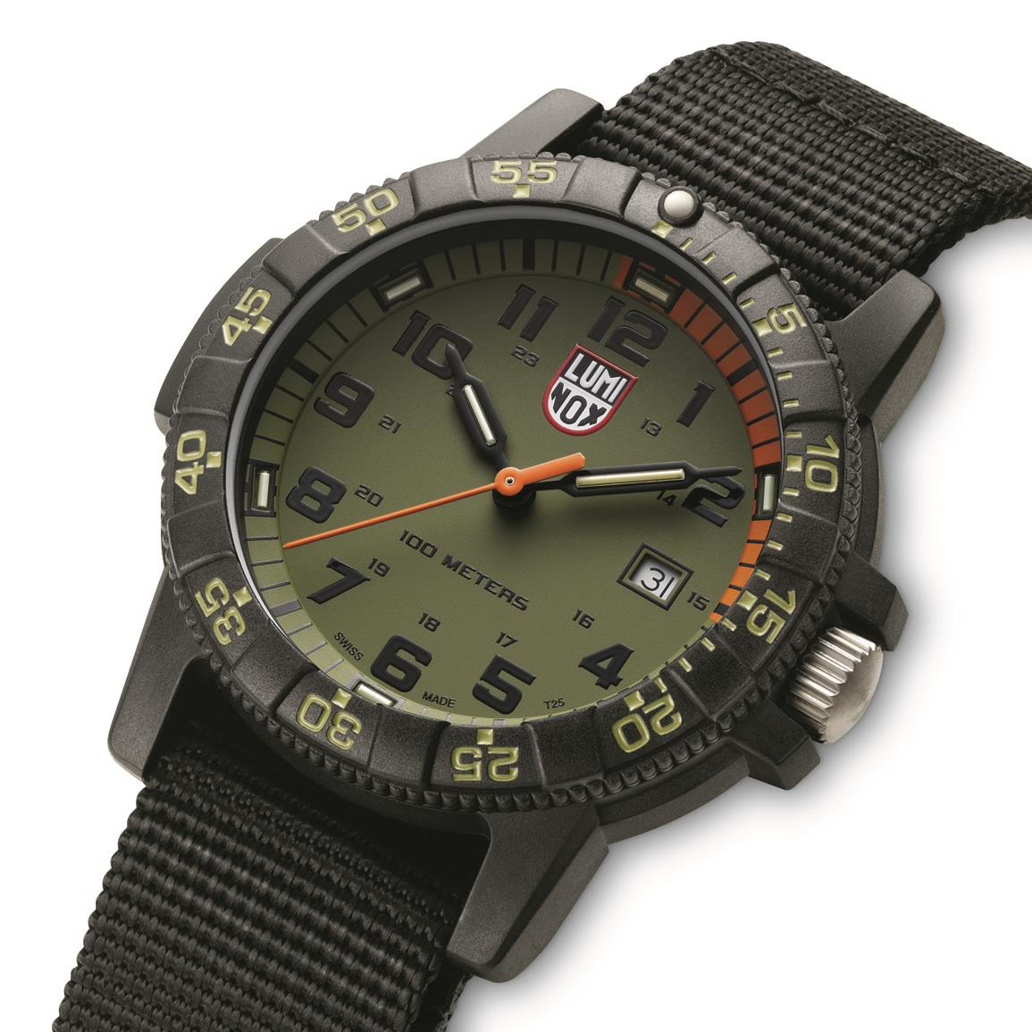 Luminox Leatherback SEA Turtle Giant 0337 Watch, Green/Black