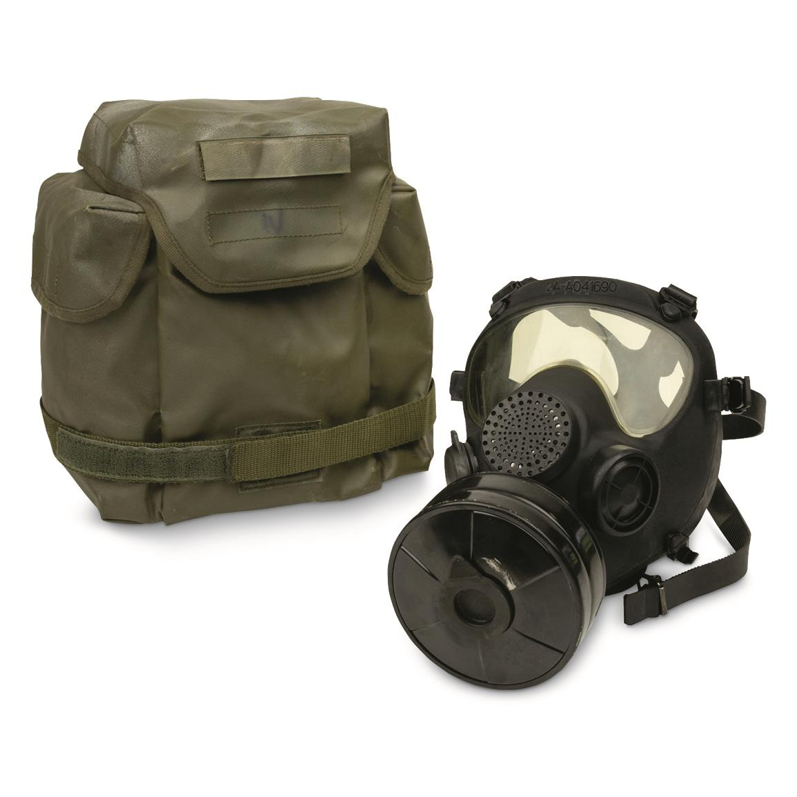 NATO Military Surplus MP5 Gas Mask with Bag and Filter, Like New