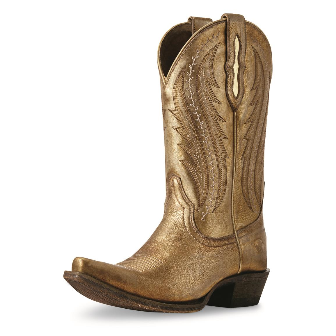 Ariat Women's Tailgate Western Boots, Distressed Gold