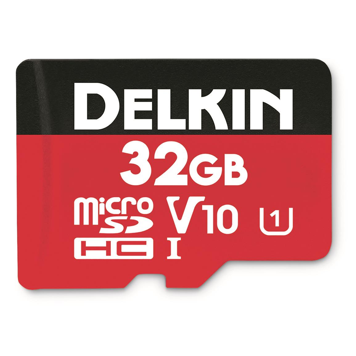 Delkin Devices 32GB Micro SD Memory Card, 2 Pack