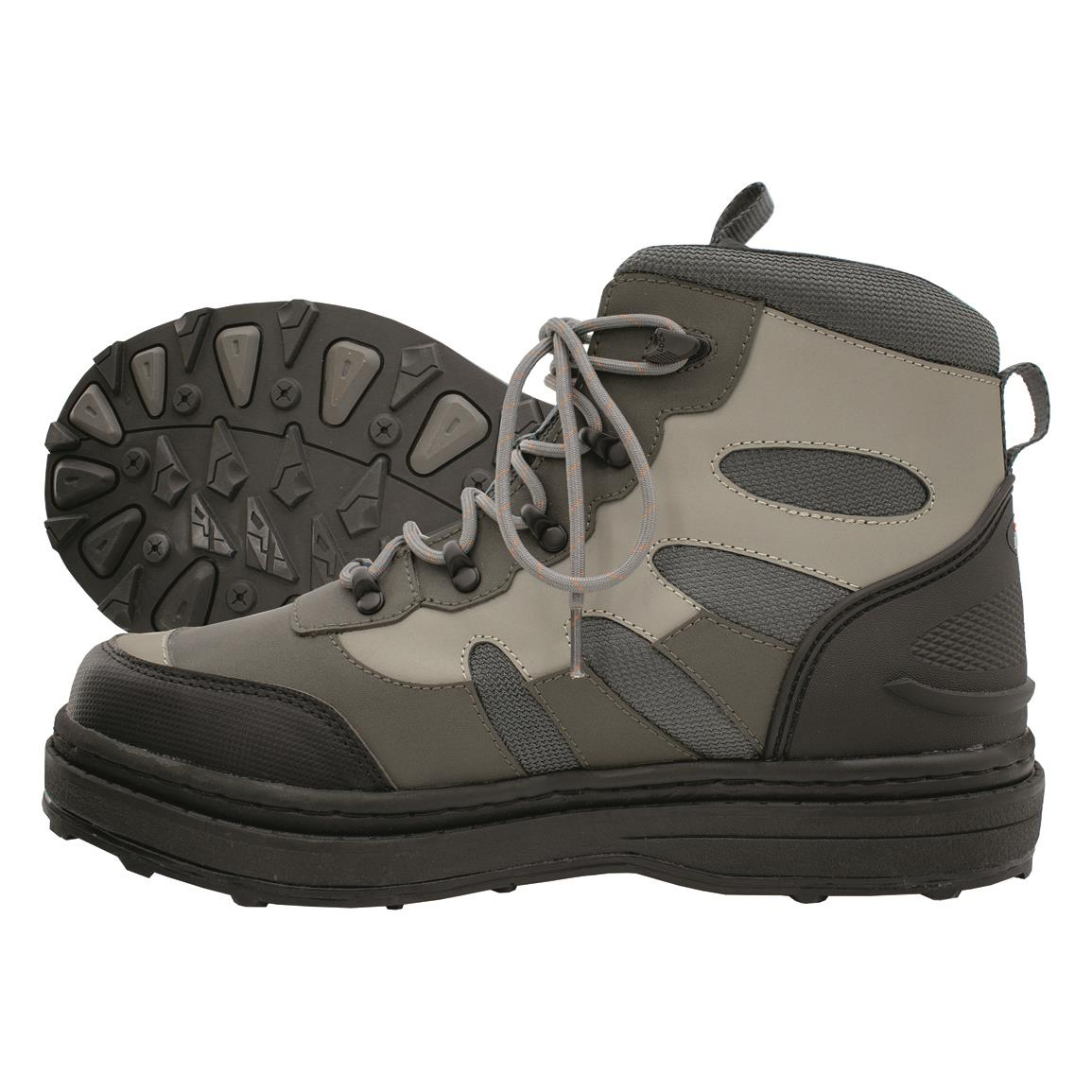frogg toggs Pilot II Wading Boots, Rubber Sole, Cleated, Khaki/black