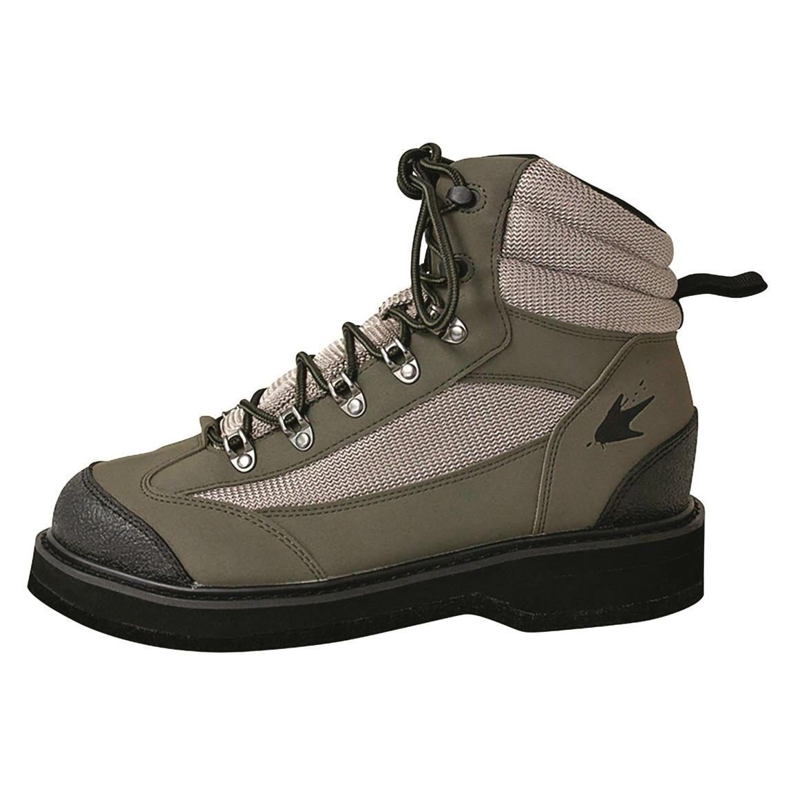 frogg toggs Hellbender Wading Boots, Rubber Sole, Cleated, Green/silver