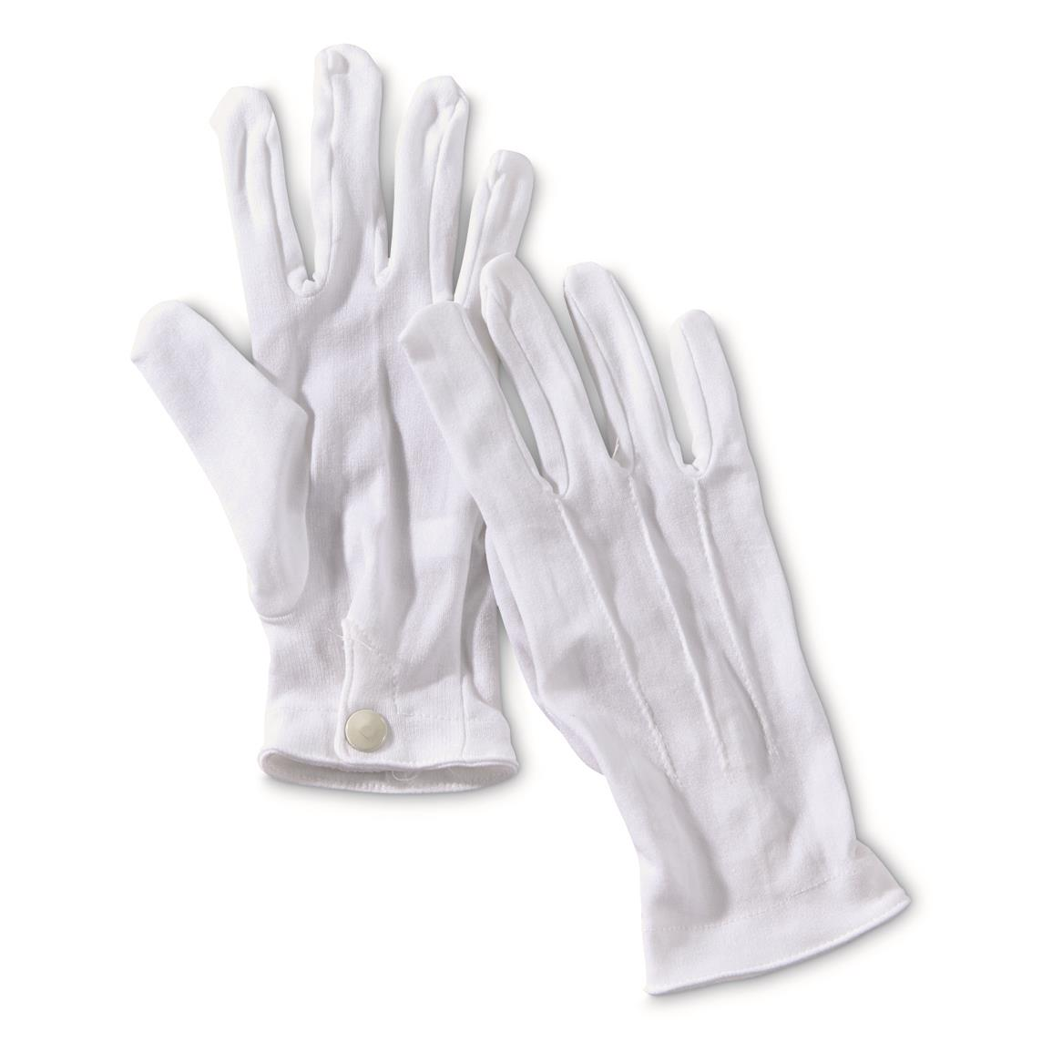 U.S. Military Surplus Parade Dress Gloves, 2 Pack, New, White