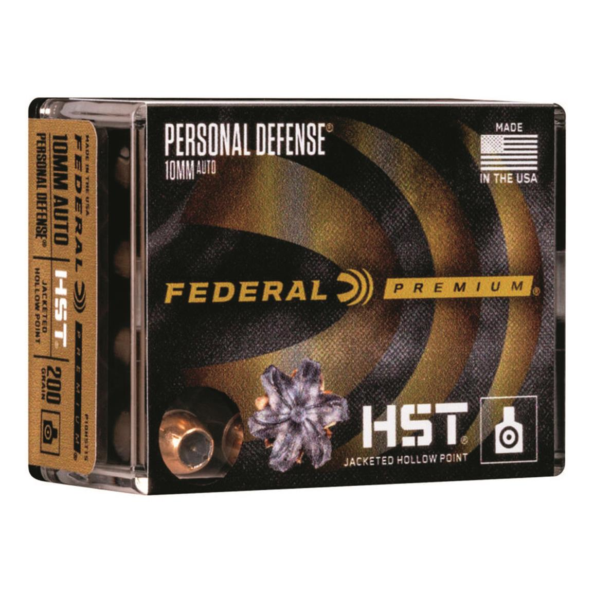 Federal Premium Personal Defense HST, 10mm, JHP, 200 Grain, 20 Rounds