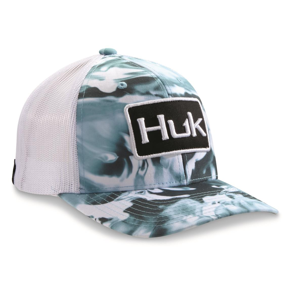 Huk Men's Huk'd Up Mossy Oak Angler Cap, Mossy Oak Elements Hydro Wahoo