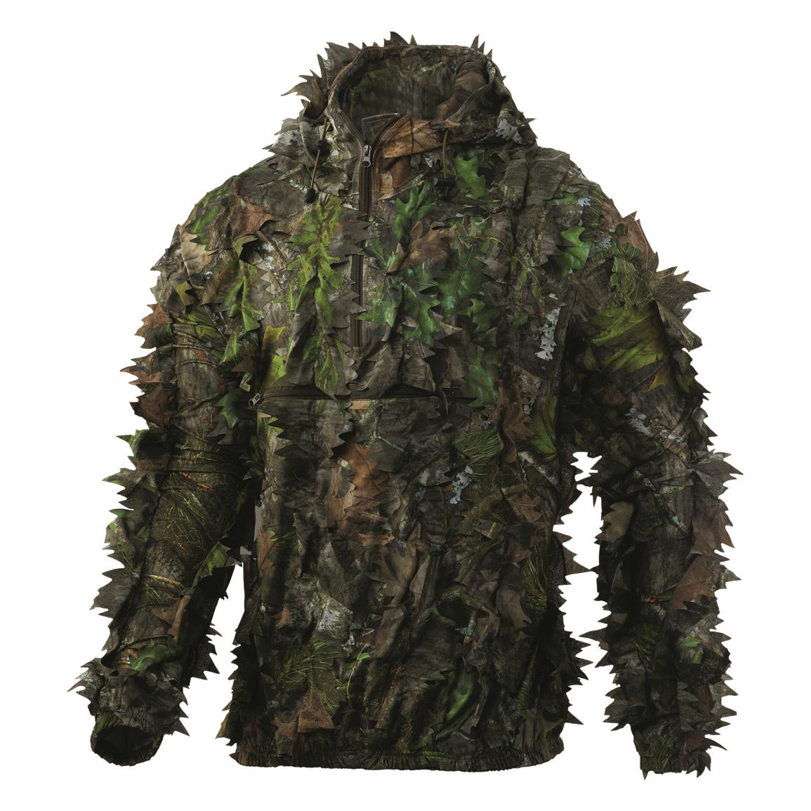 NOMAD Men's NWTF Quarter-Zip Leafy Pullover, Mossy Oak Obsession®