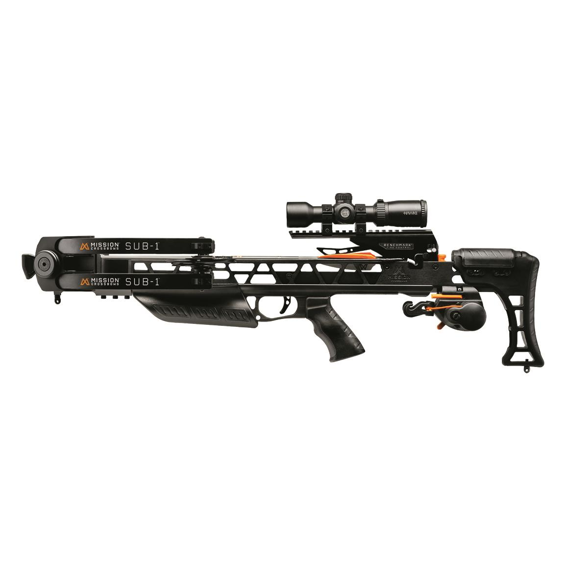 Mission Sub-1 Crossbow with Pro Accessory Kit, Black