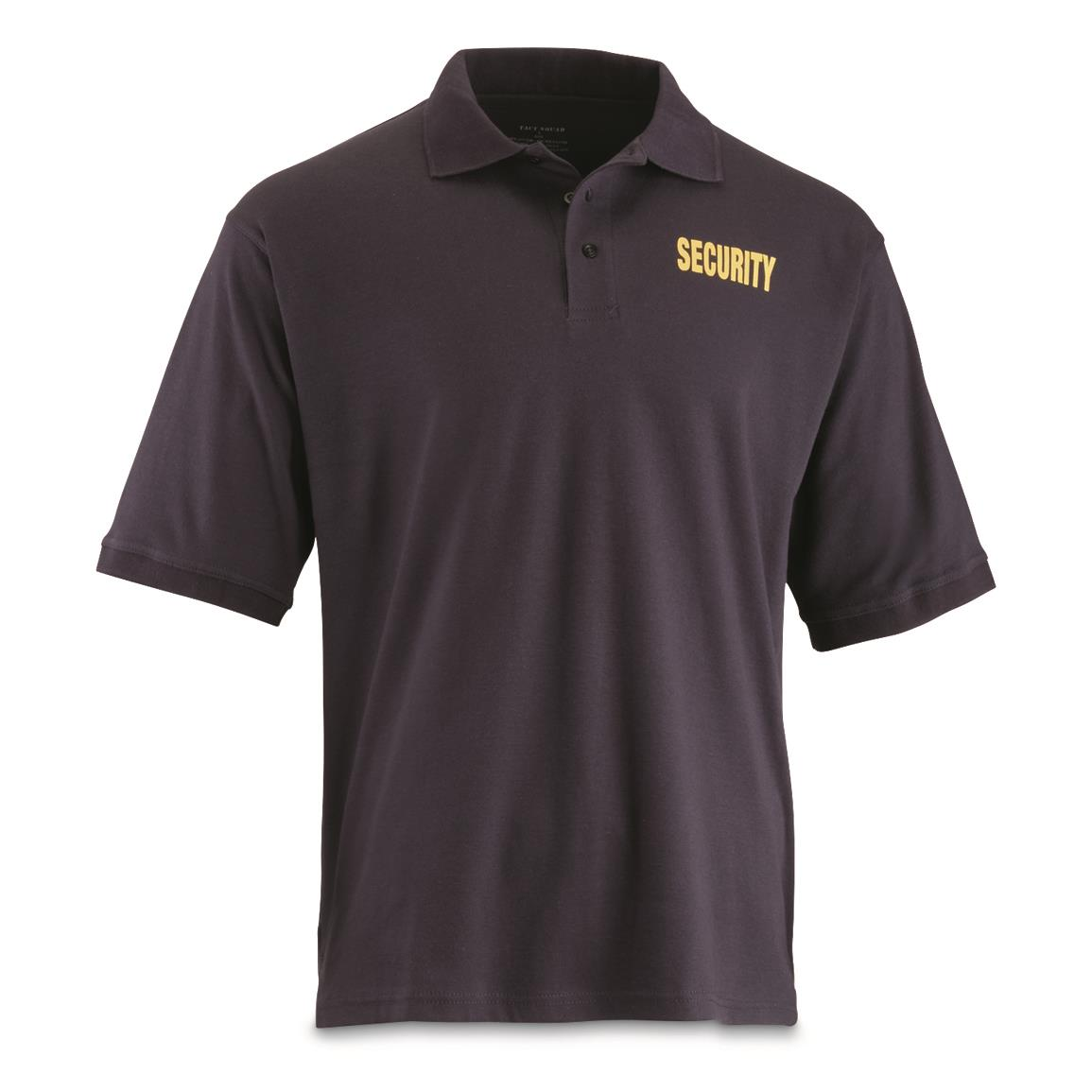 U.S. Municipal Surplus Security Polo Shirt with Gold Lettering, New, Navy