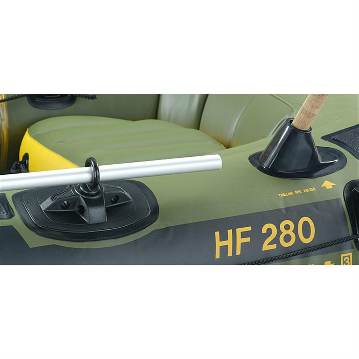 Sevylor fishing hunting inflatable boat package with Aluminum boat and motor packages