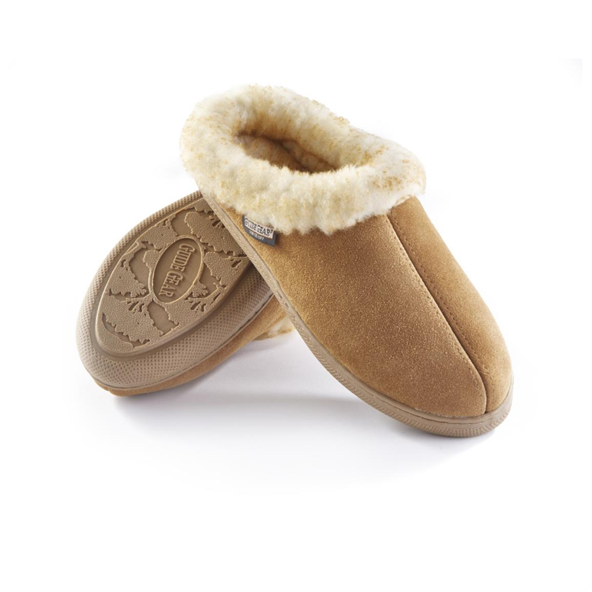 Guide Gear Women's Suede Clog Slippers, Cinnamon