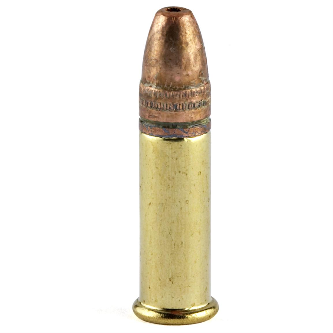 Copper plated 36 Grain hollow point bullet