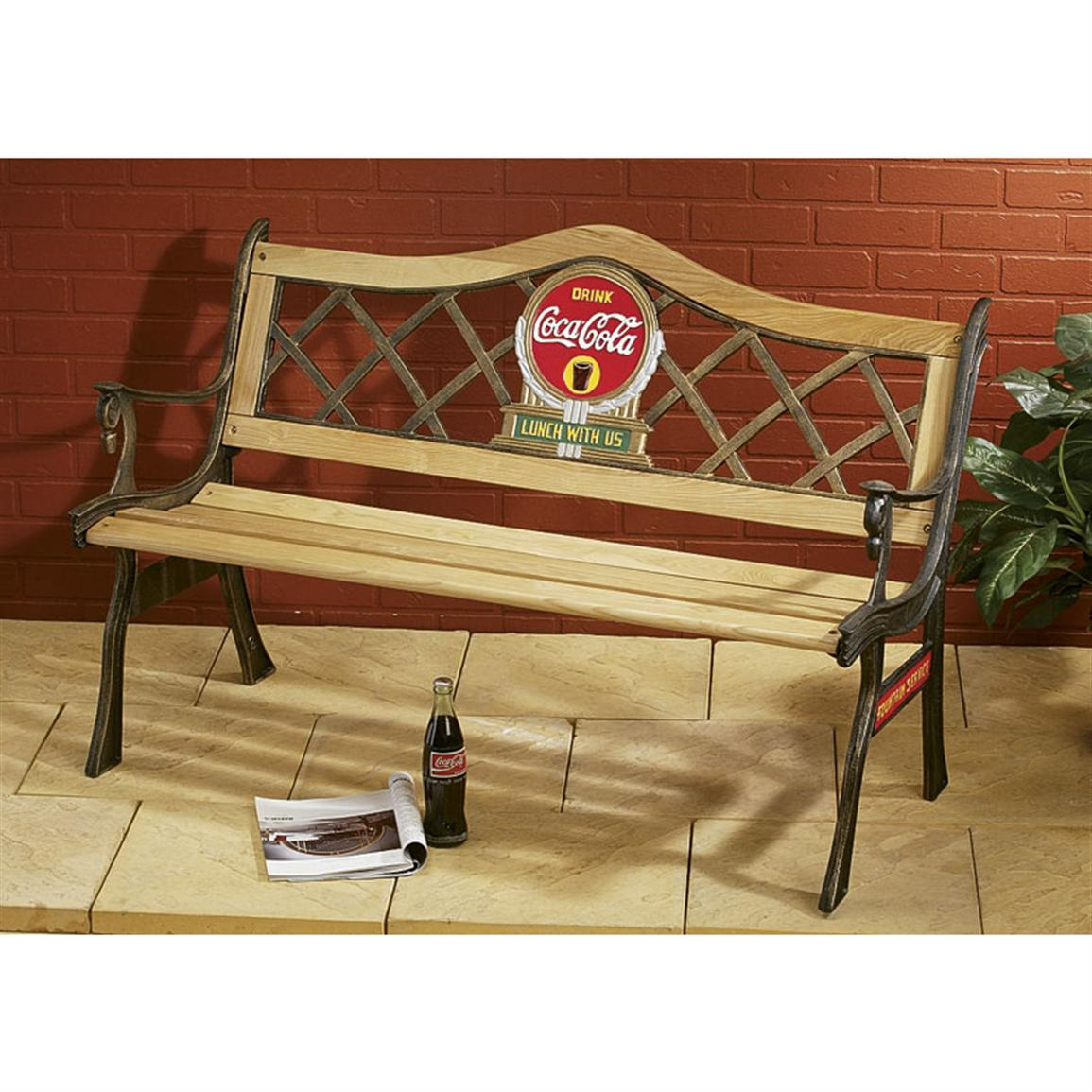Coca Cola 174 Bench 82579 Patio Furniture At Sportsman S Guide