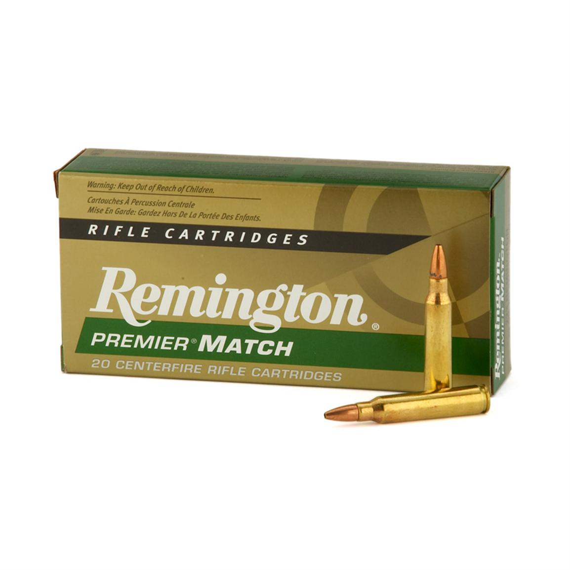 Remington Premier Match Rifle .223 Rem. Match 62 Grain HP (Match) 20 rounds