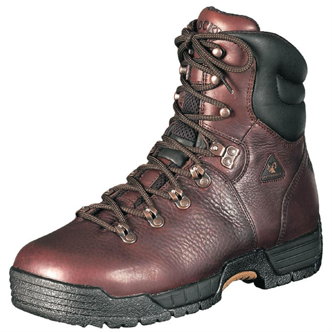 "Men's Rocky® MobiLite™ 8"" Steel Toe Work Boots, Dark Brown"