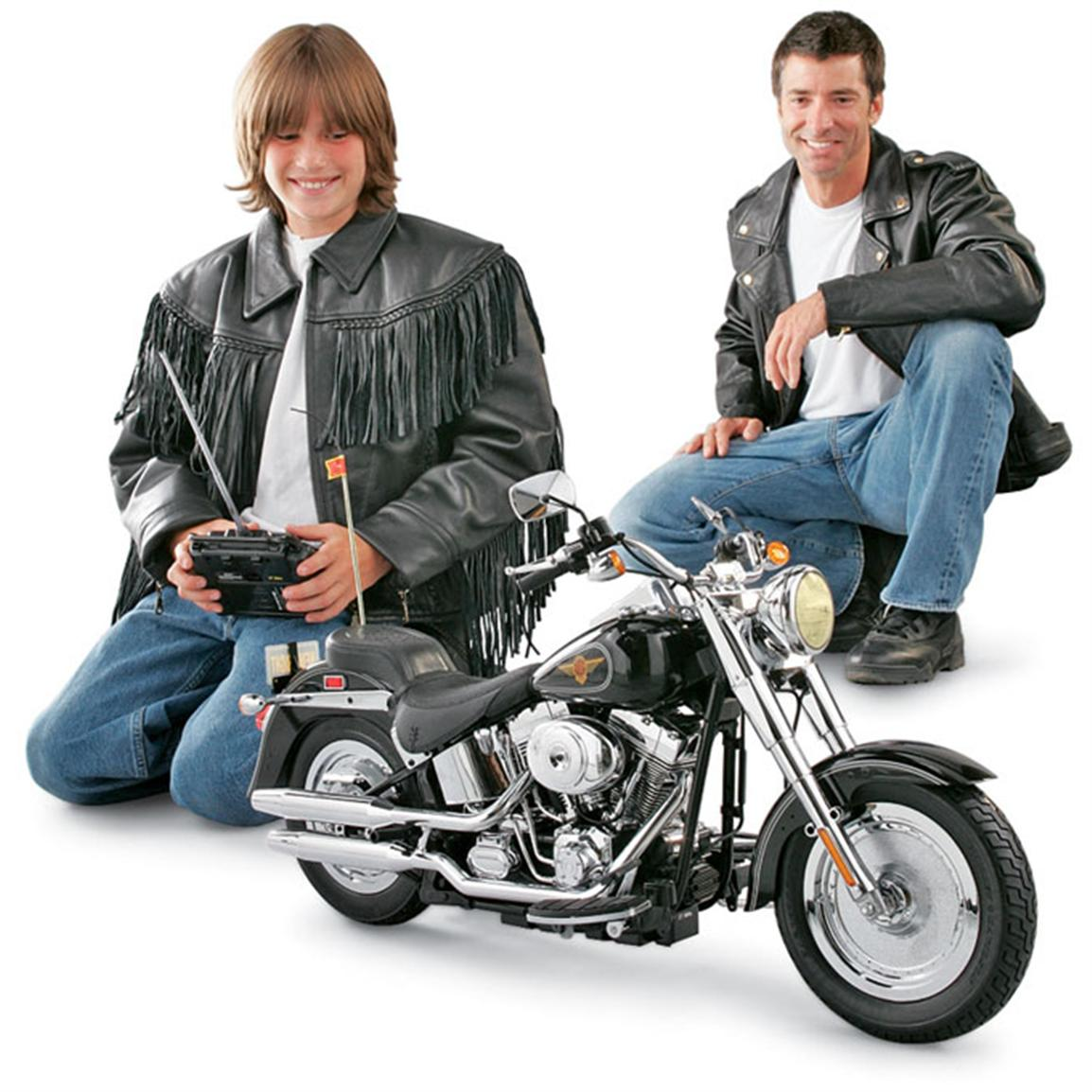 Motorcycle Toys For Boys : Radio controlled harley davidson fat boy motorcycle