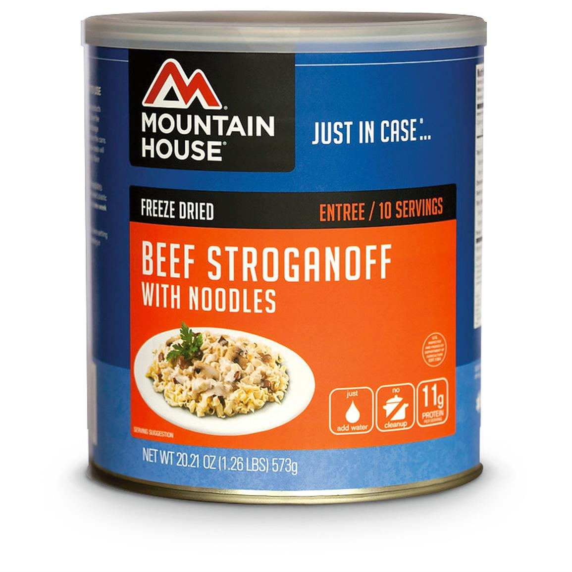 Mountain House Freeze Dried Beef Stroganoff, 10 Servings