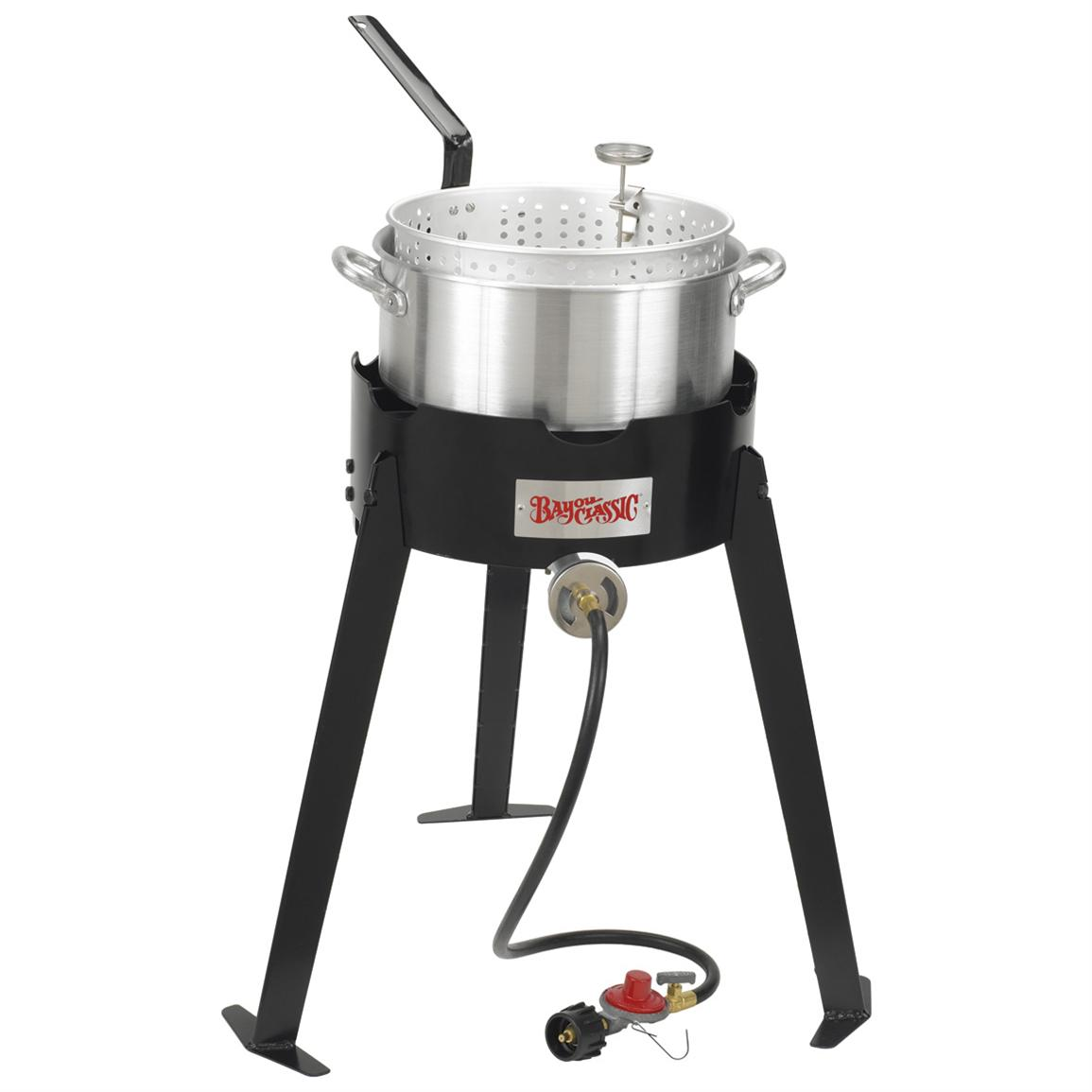 bayou classic 22 outdoor fish cooker with fry pot