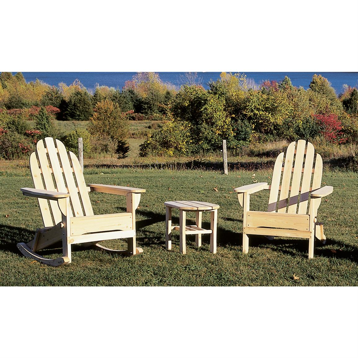 Cedar Adirondack Rocker Chair Patio Furniture at