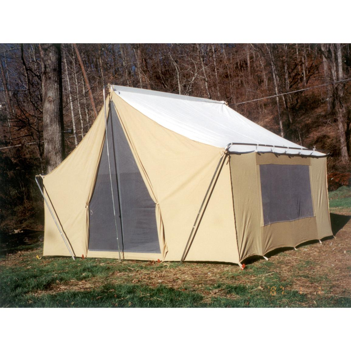 Canvas Cabin Tent By Trek 216558 Backpacking Tents