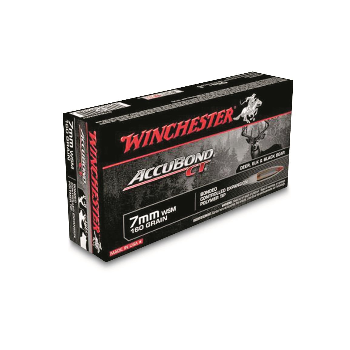 Winchester, AccuBond CT Rifle, 7mm, WSM, 160 Grain, 20 Rounds