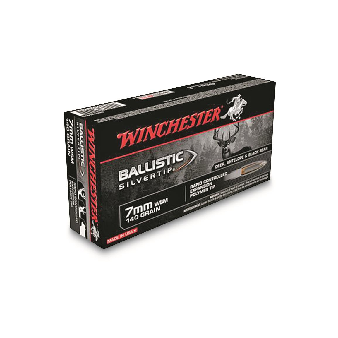 Winchester, AccuBond CT Rifle, 7mm, WSM , 140 Grain, 20 Rounds