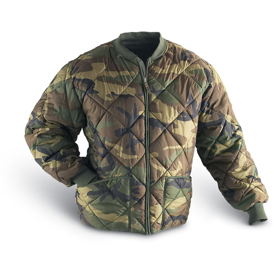 Military Style Insulated Diamond Quilted Flight Jacket - 95897 ...