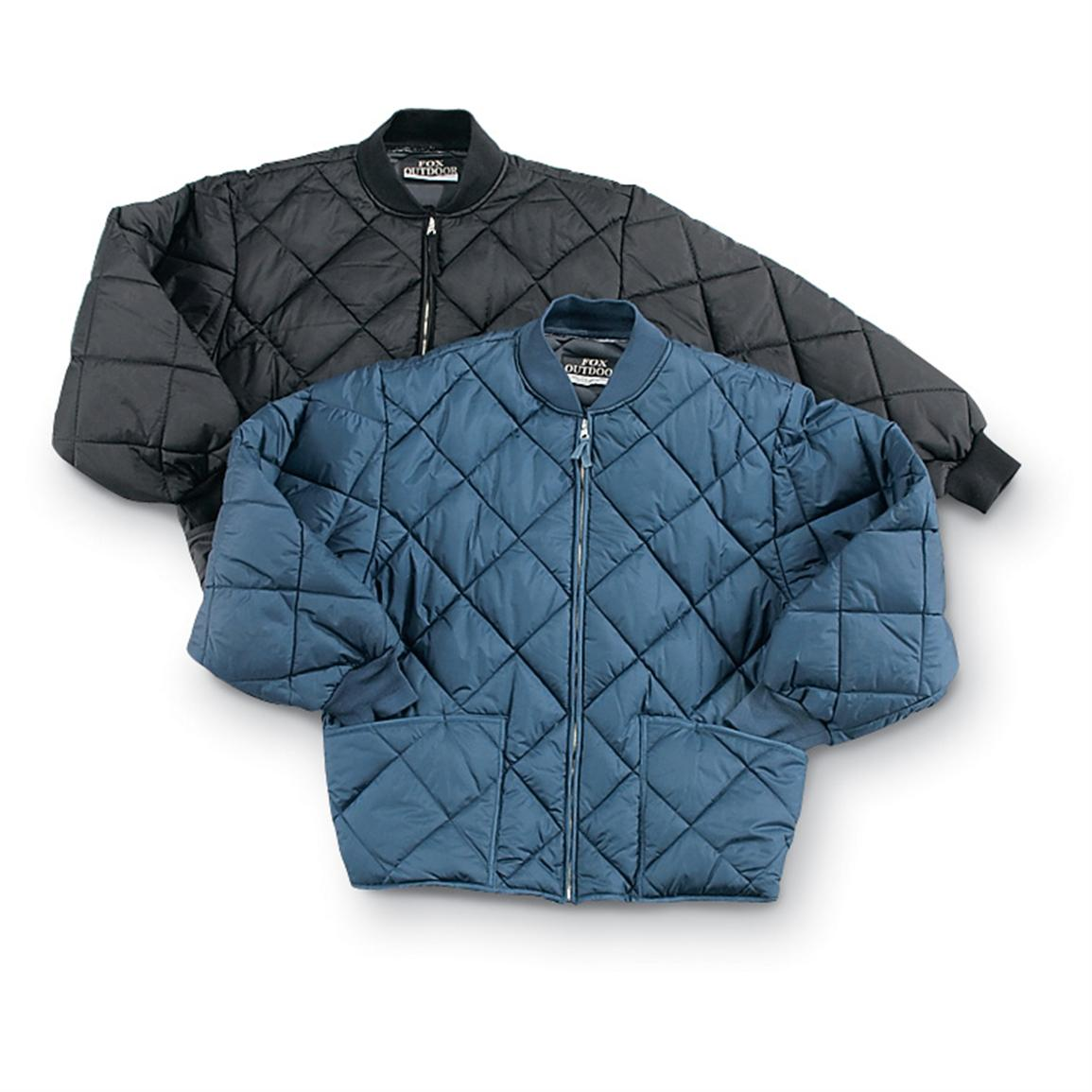 Military Insulated Diamond Quilted Flight Jacket in Black or Navy