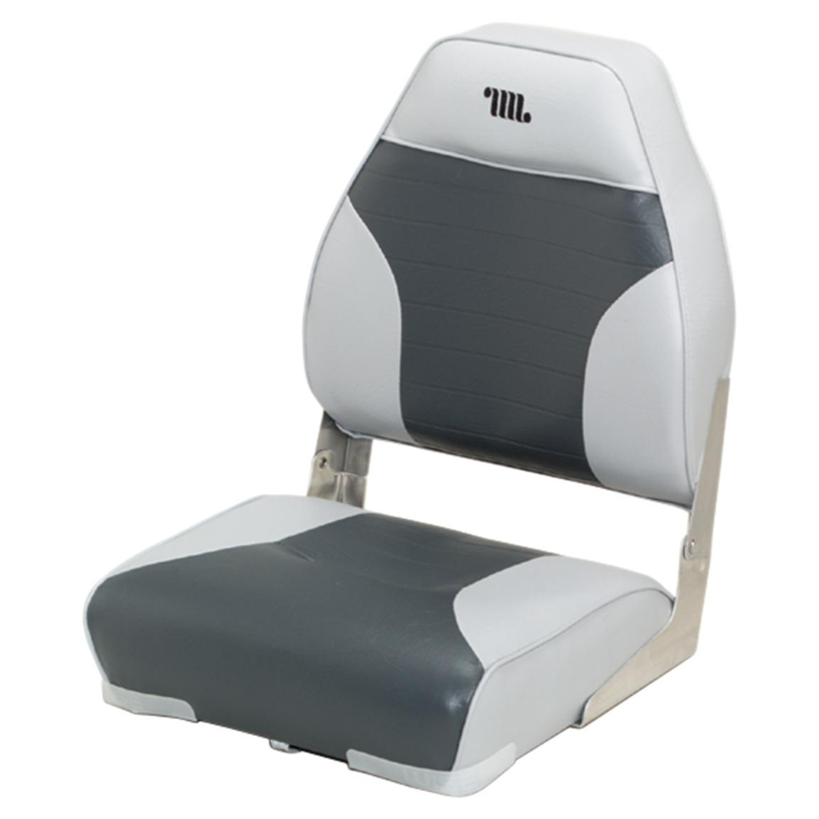 Wise Premium Folding Fishing Boat Seat, Grey / Charcoal