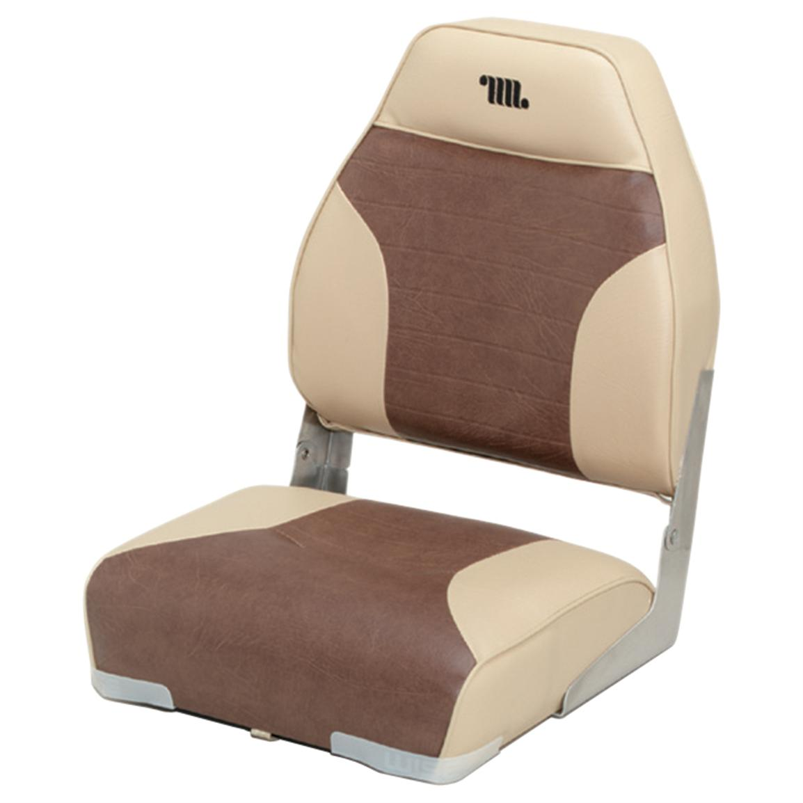 Wise Premium Folding Fishing Boat Seat, Sand / Brown