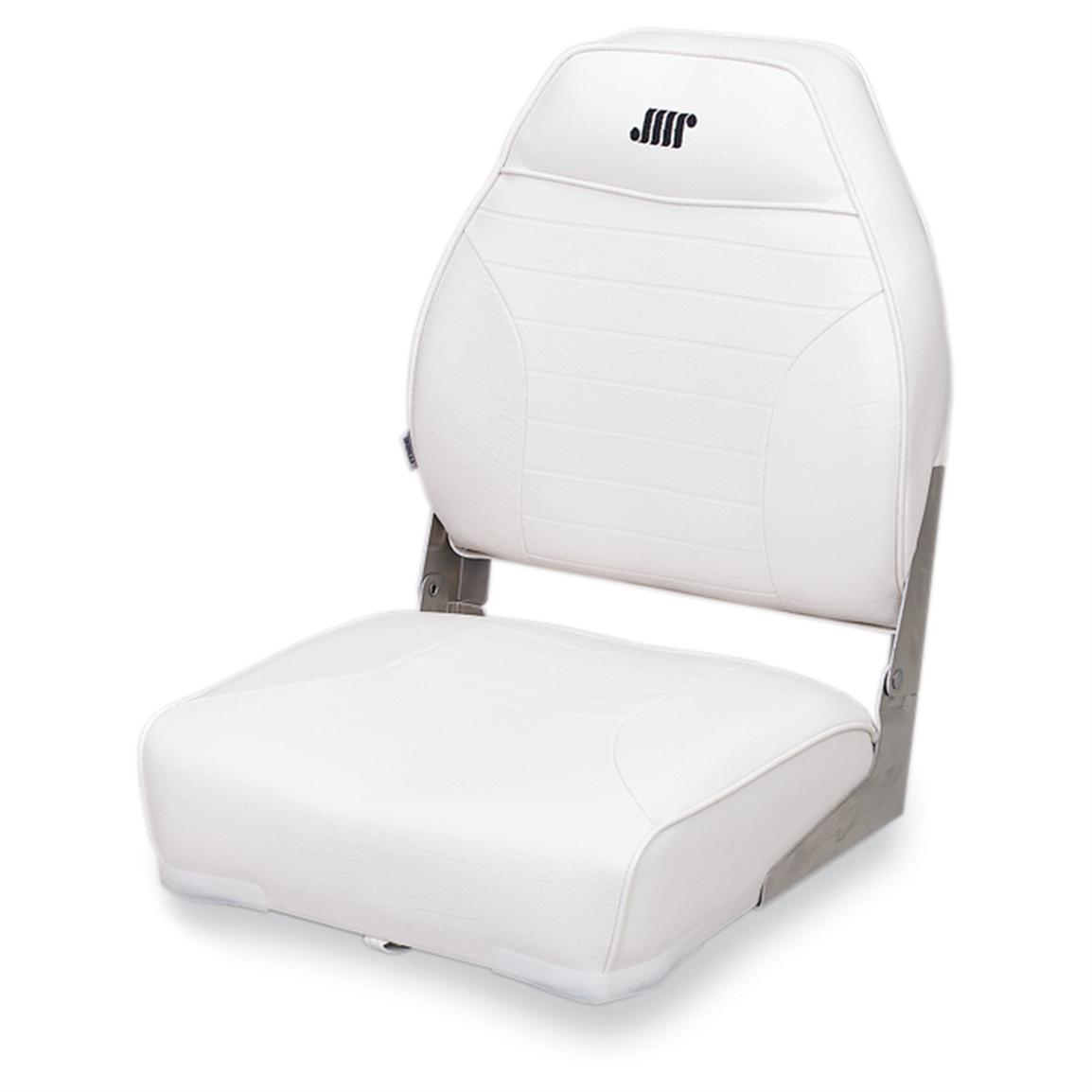 Wise Premium Folding Fishing Boat Seat, White