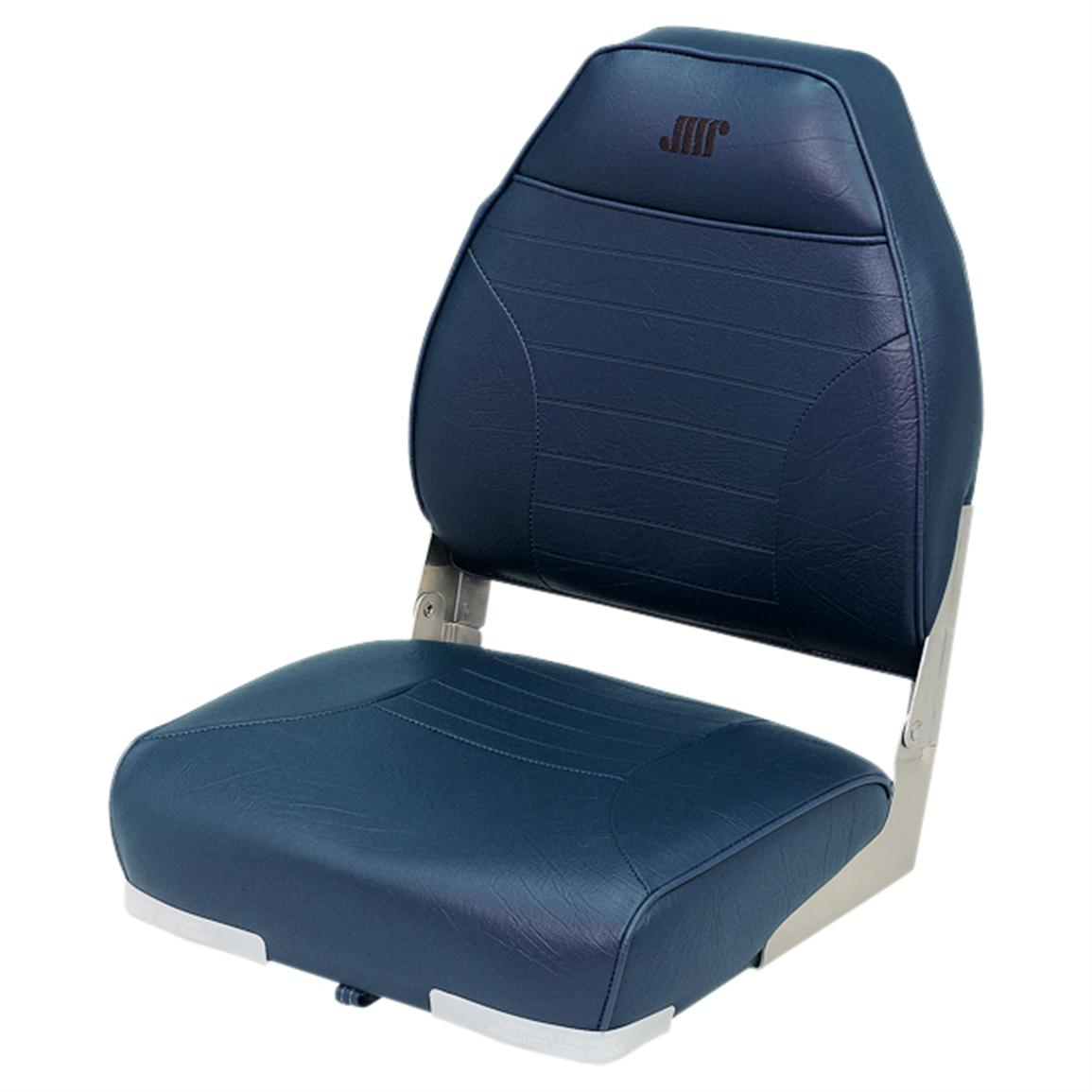 Wise Premium Folding Fishing Boat Seat, Navy