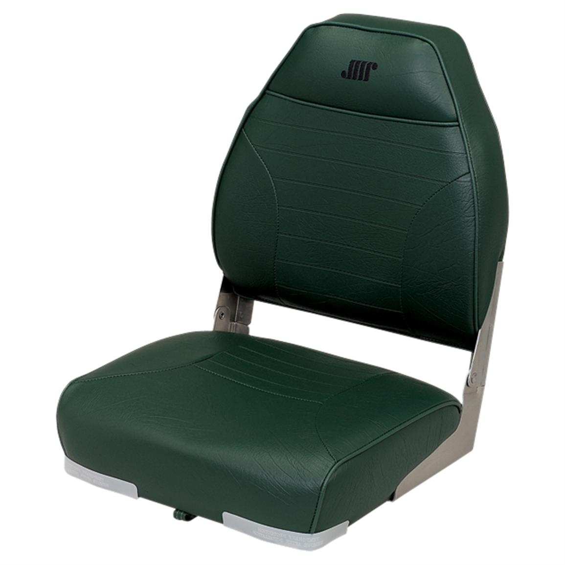 Wise Premium Folding Fishing Boat Seat, Green