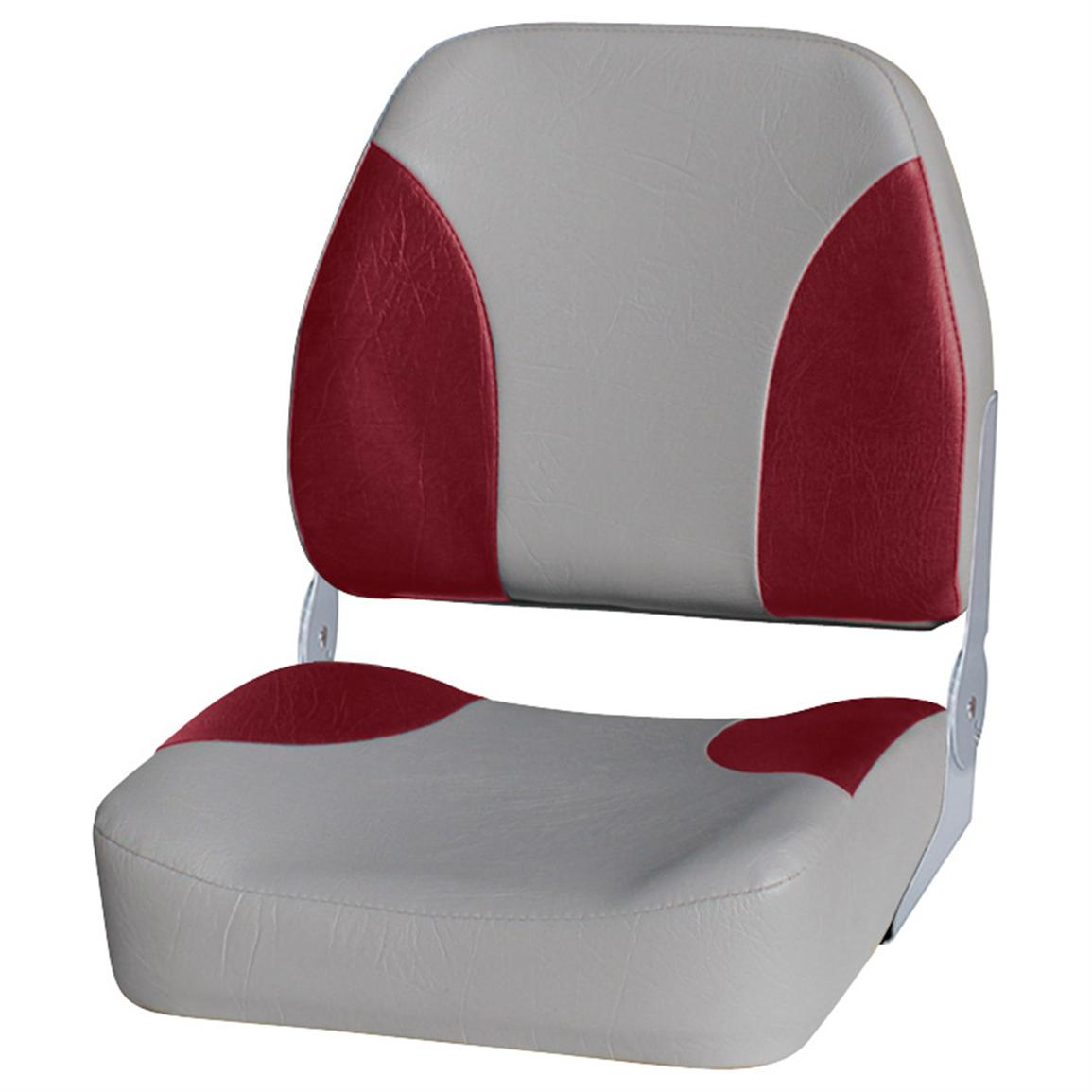 Wise Premium Big Man Fishing Boat Seat, Grey / Red