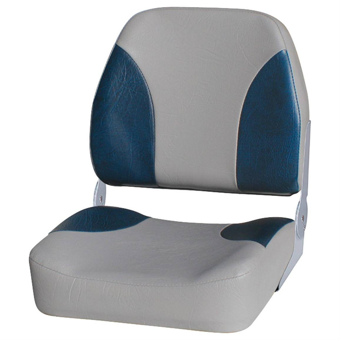 Wise Premium Big Man Fishing Boat Seat, Grey / Navy