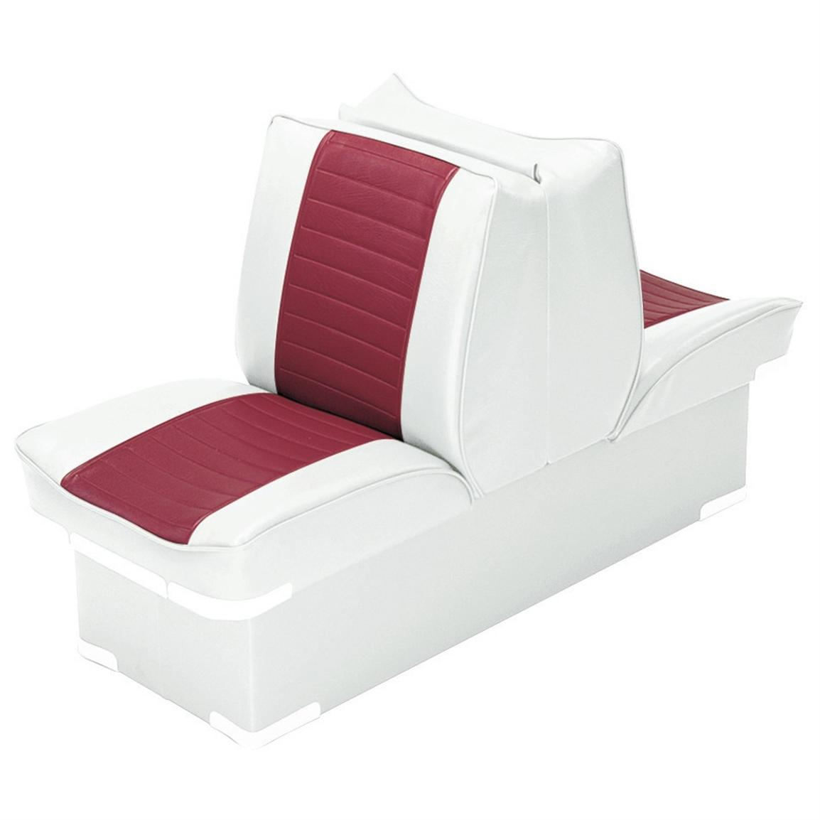 Wise Boat Lounge Seat, White / Red
