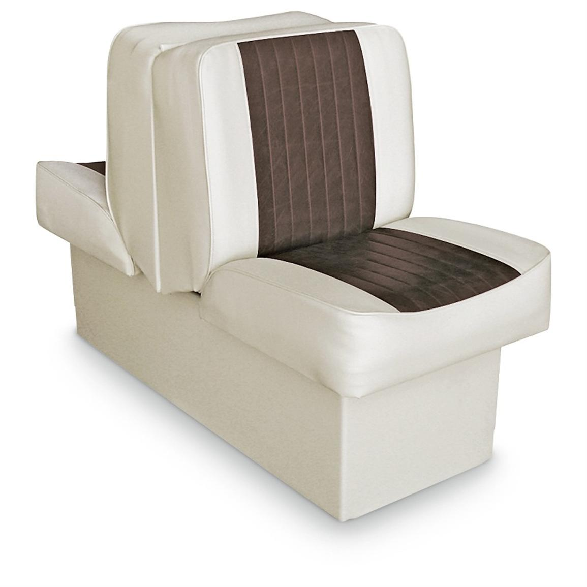 Wise Deluxe Boat Lounge Seat, Sand / Brown