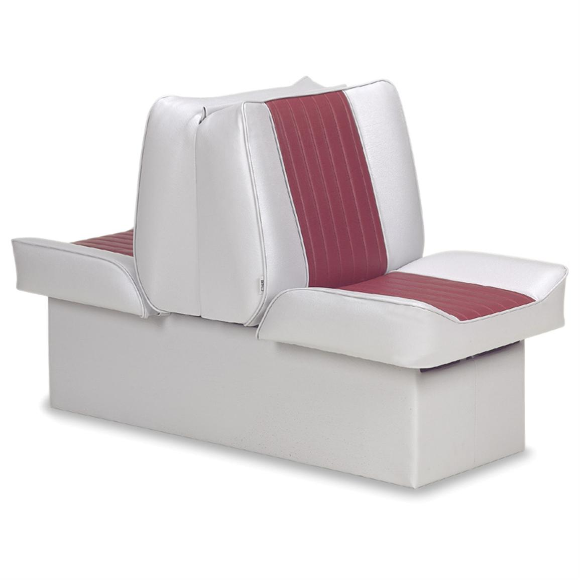 Wise Deluxe Boat Lounge Seat, Grey / Red
