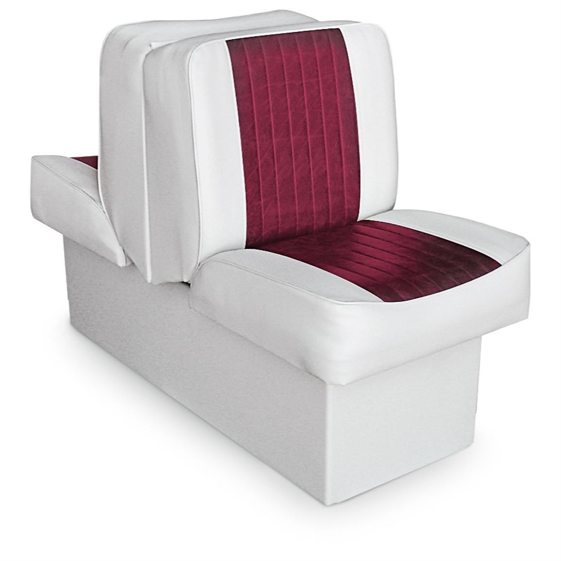 Wise Deluxe Boat Lounge Seat, White / Red