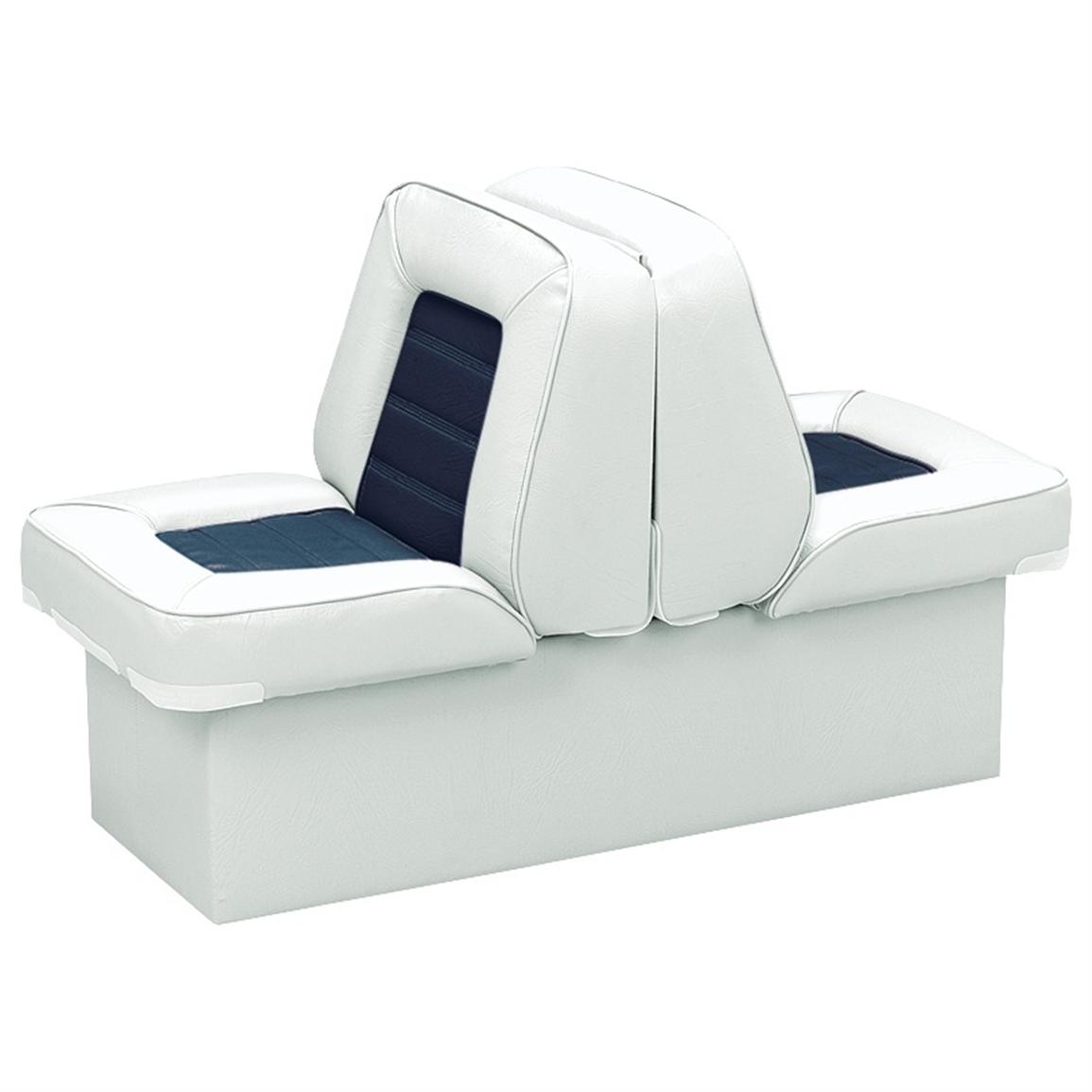 Wise Deluxe Boat Lounge Seat, White / Navy